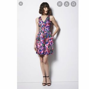 Milly Design Nation Floral Sleeveless A Line Dress